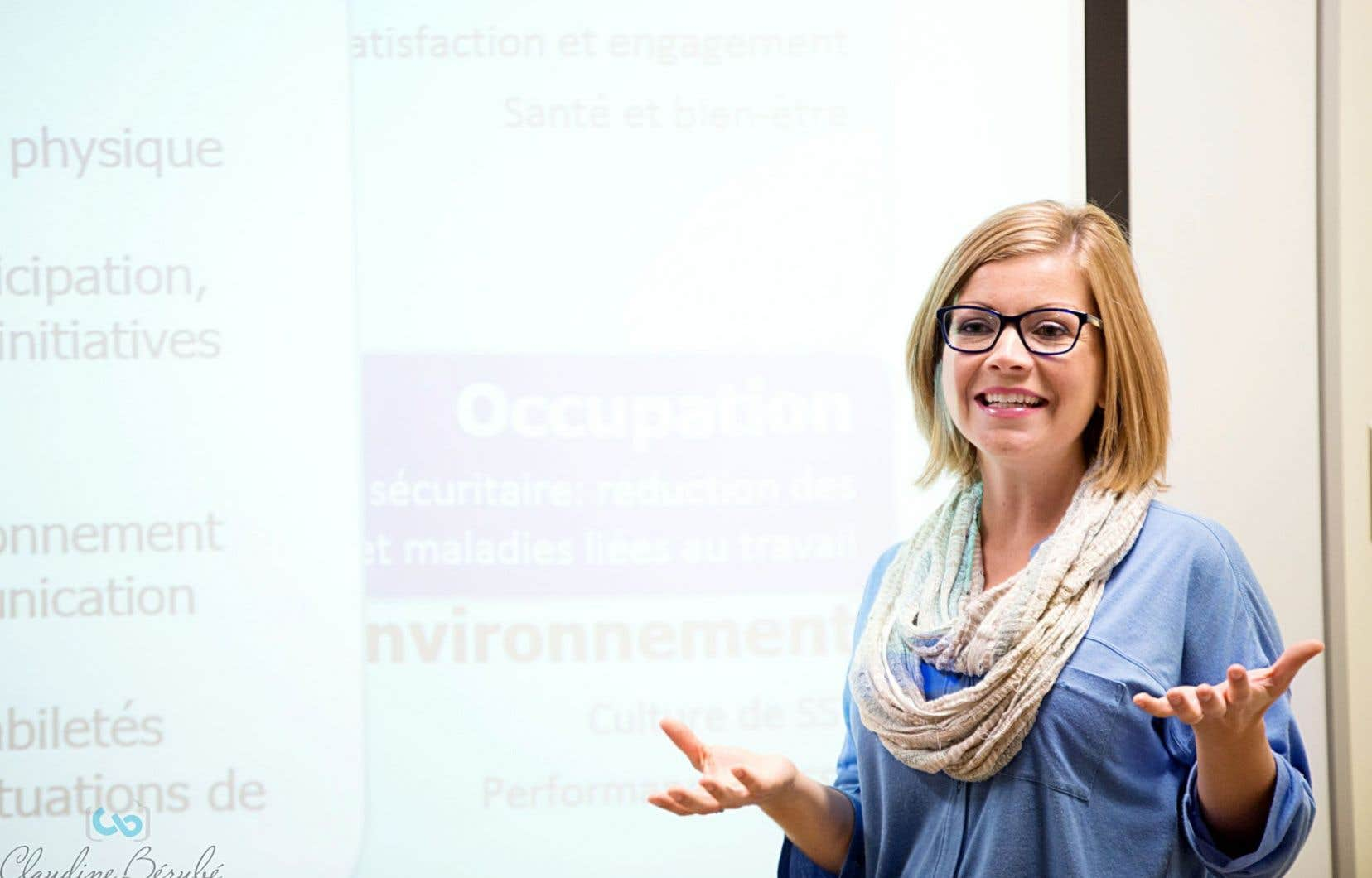 Alexandra Lecours, étudiante au doctorat en sciences biomédicales à l'Université du Québec à Trois-Rivières (UQTR)