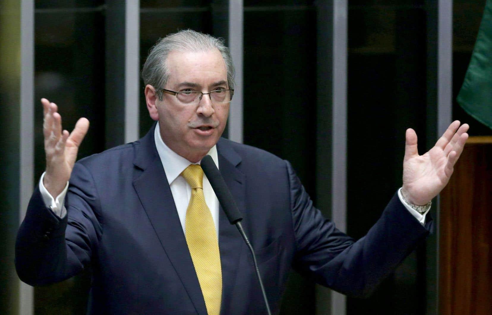 L'ex-président du Congrès des députés brésilien Eduardo Cunha