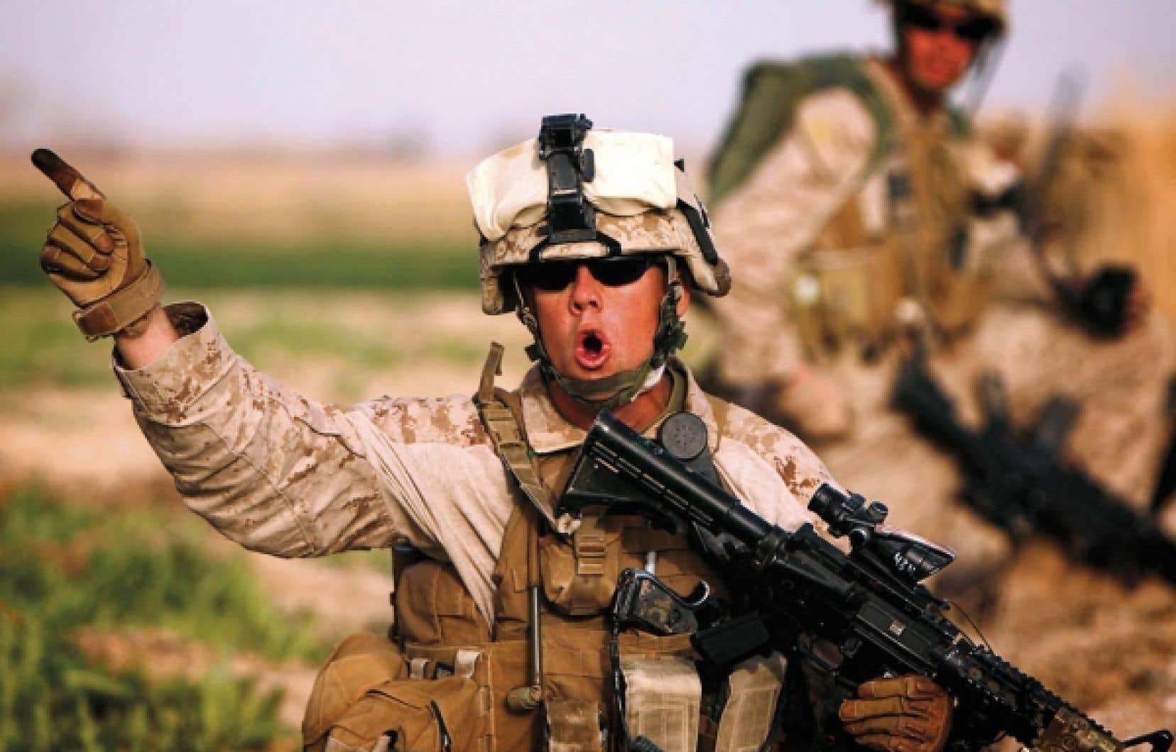 Un marine américain hier à Marjah, dans le sud de l'Afghanistan
