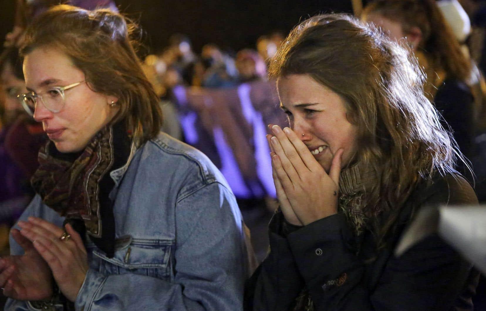 Mercredi, à l'Université Laval, un rassemblement s'est tenu en soutien aux victimes de la vague d'agressions survenue dans la nuit de samedi à dimanche.