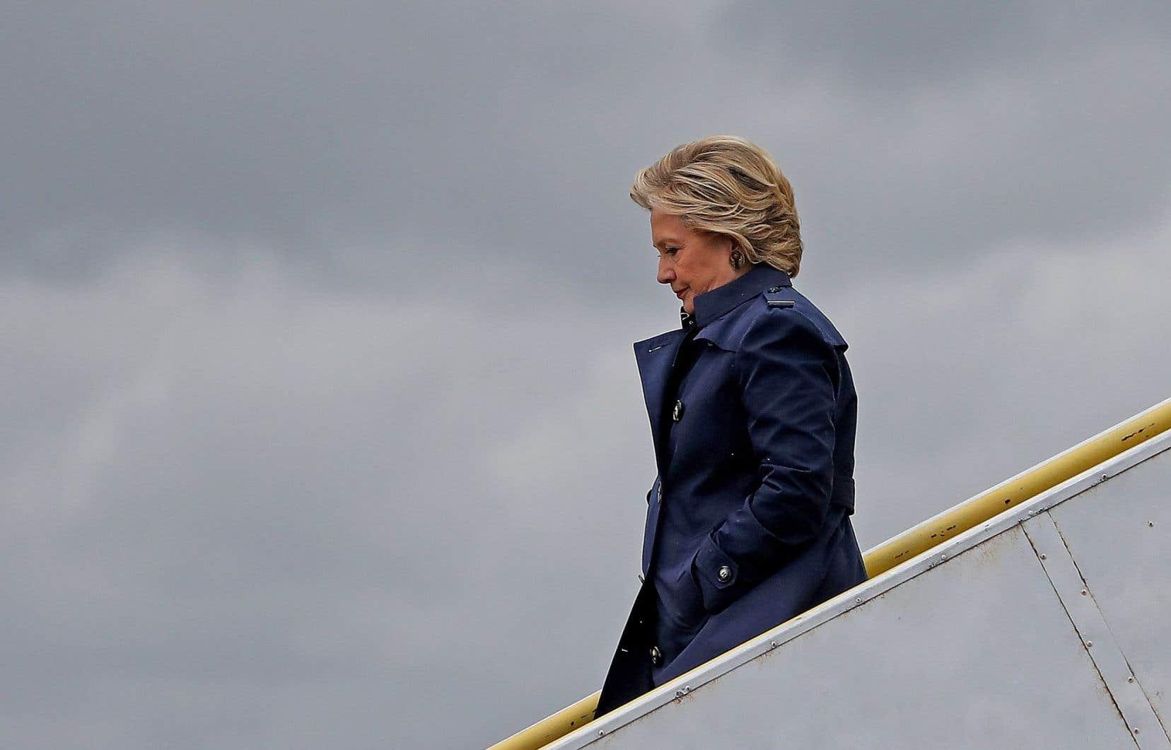 Hillary Clinton à son arrivée à Cleveland
