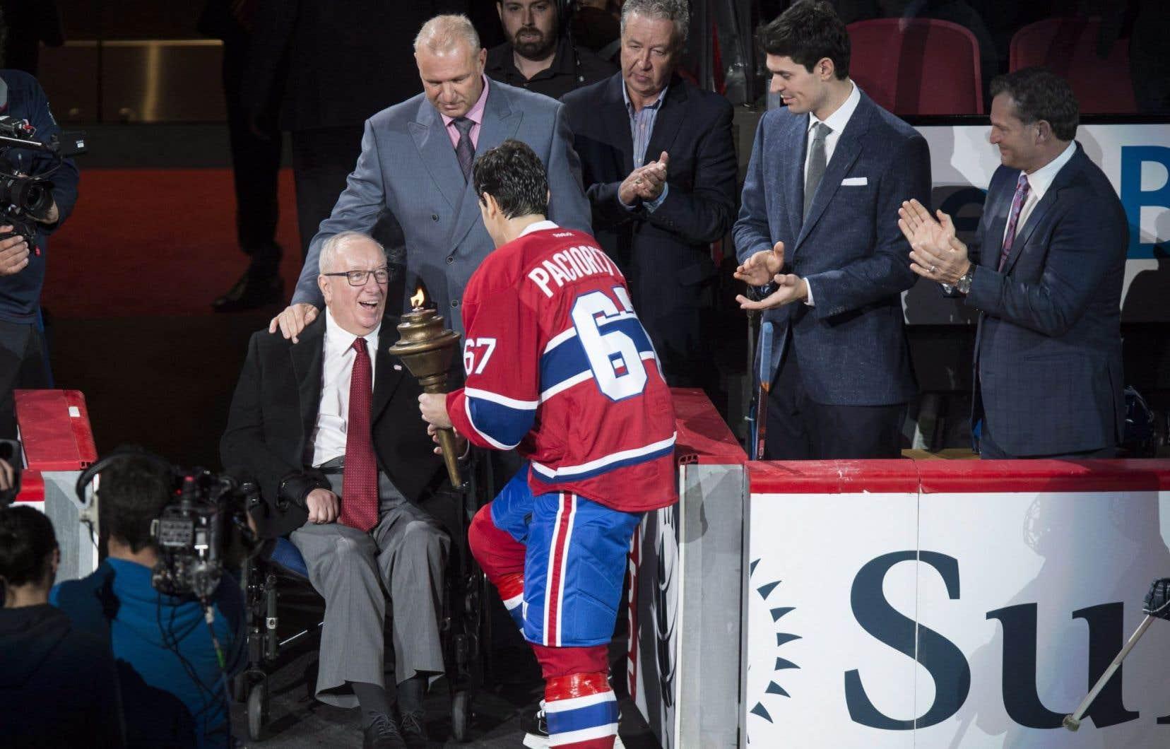Jacques Demers était à la cérémonie spéciale de l'ouverture de la saison locale du Canadien, le 18 octobre dernier, au Centre Bell.