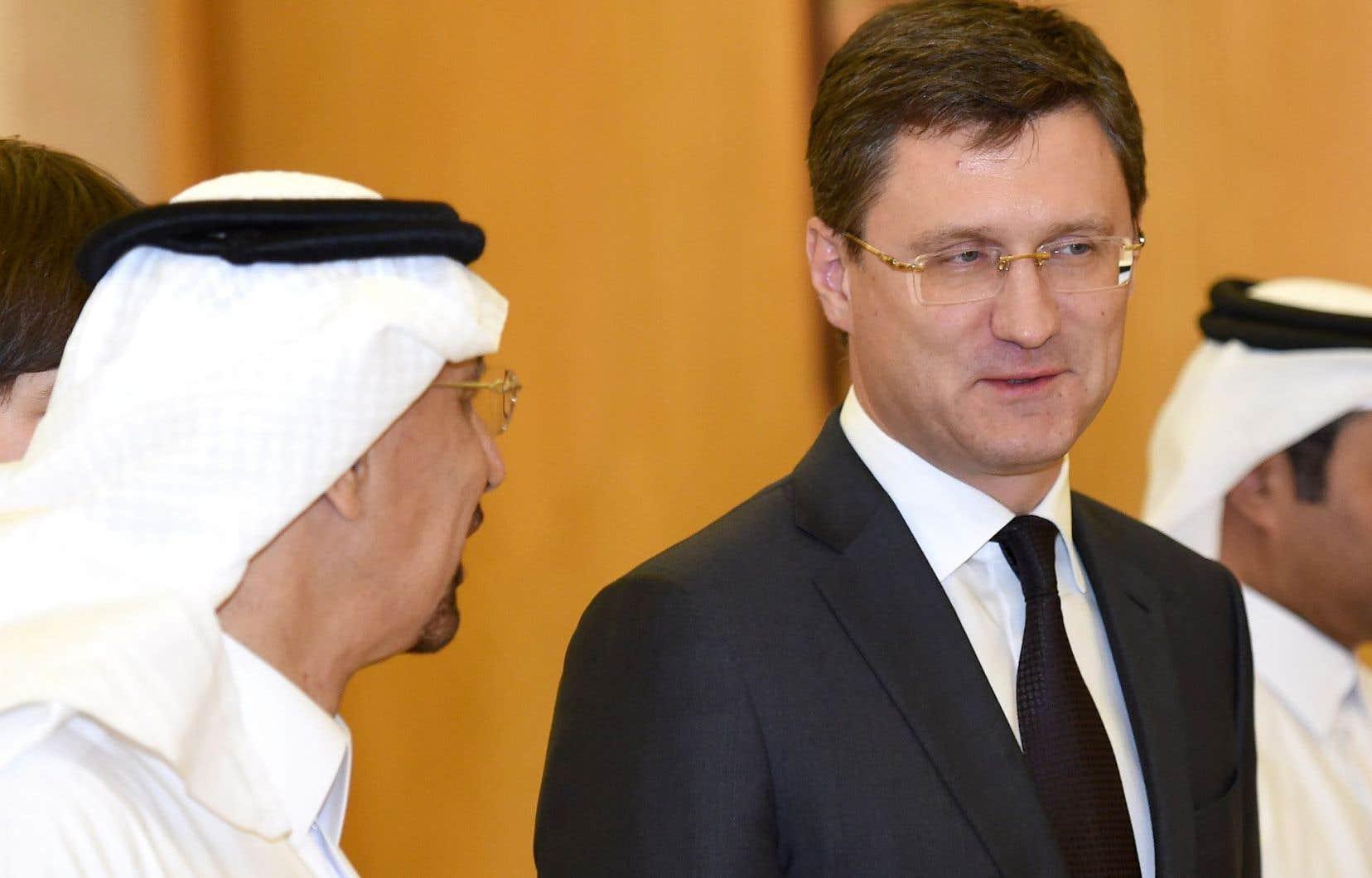 Le ministre russe Alexander Novak était dimanche à Riyad, où il a rencontré son homologue saoudien Khaled al-Faleh