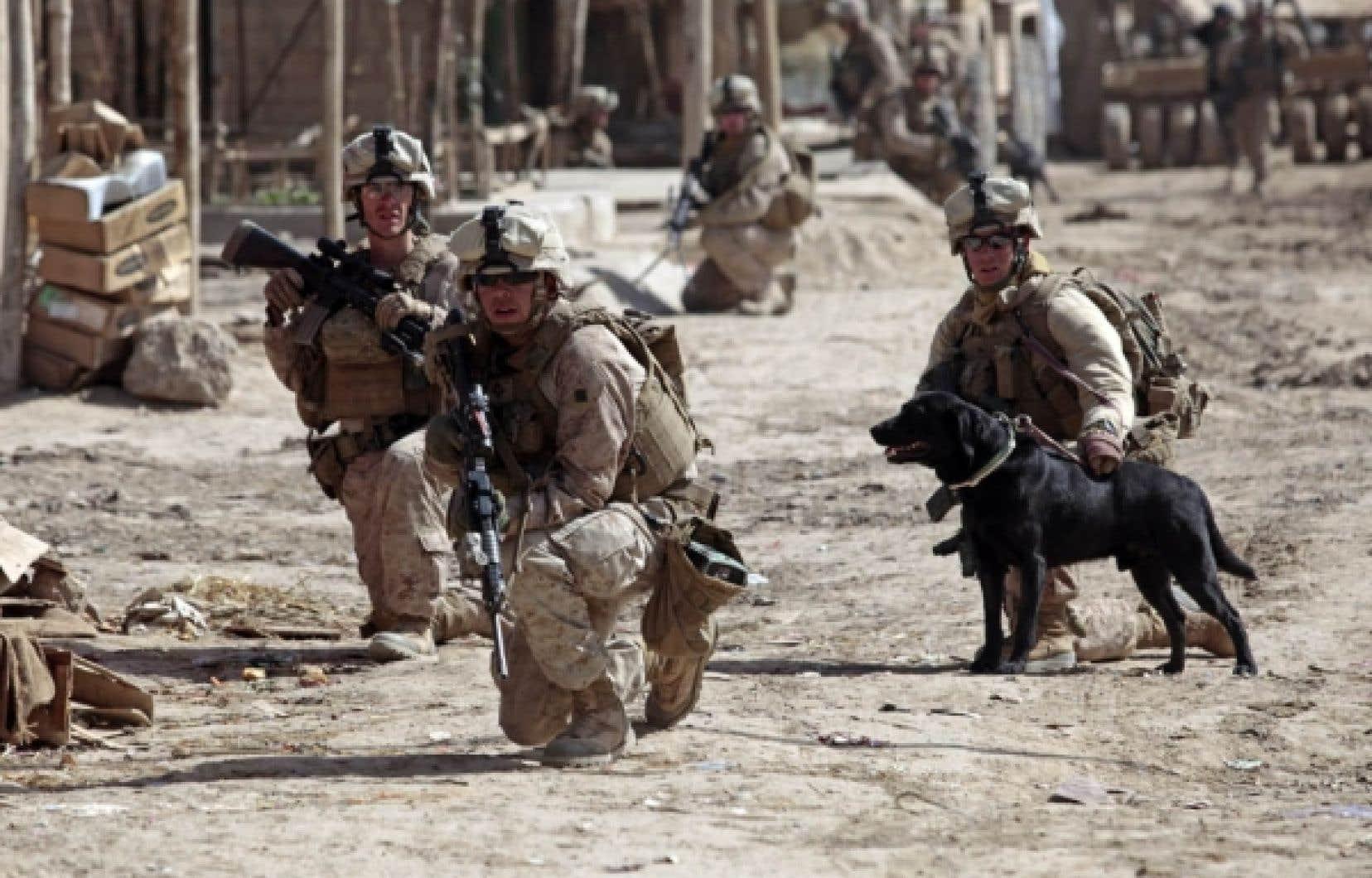 Des soldats américains participent à l'offensive contre les talibans à Marjah.