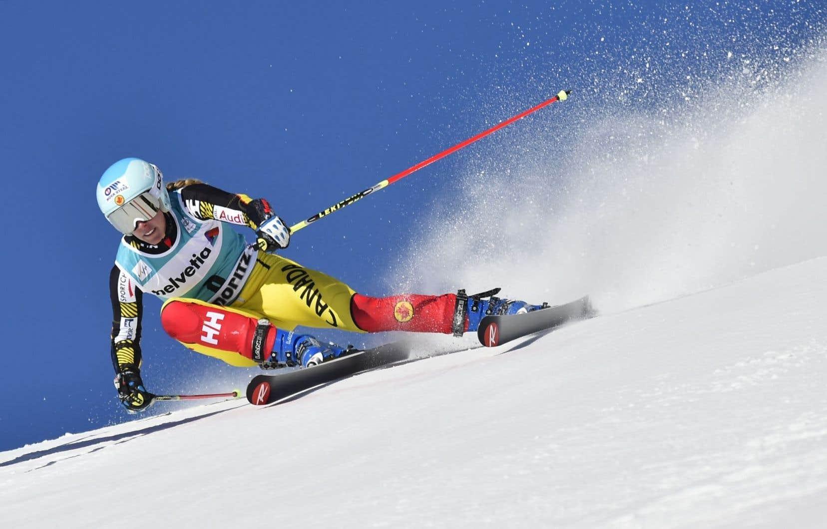 L'athlète québécoise de ski alpin Marie-Michèle Gagnon