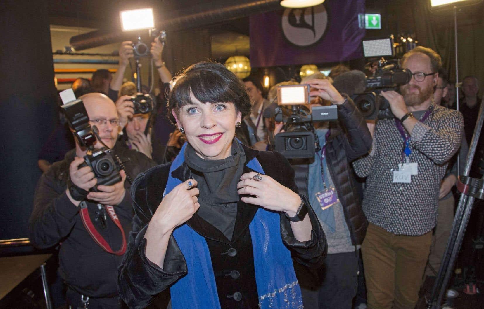 Birgitta Jonsdottir s'est dite «ravie» par le score du parti Pirate.