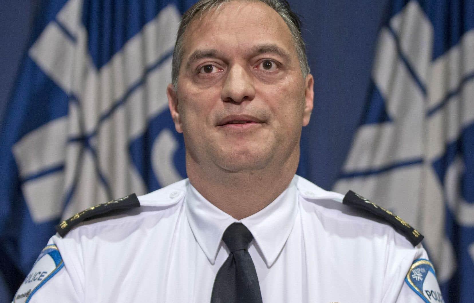 Le directeur du SPVM, Philippe Pichet, a tenu un point de presse lundi pour commenter l'espionnage des communications de Patrick Lagacé.