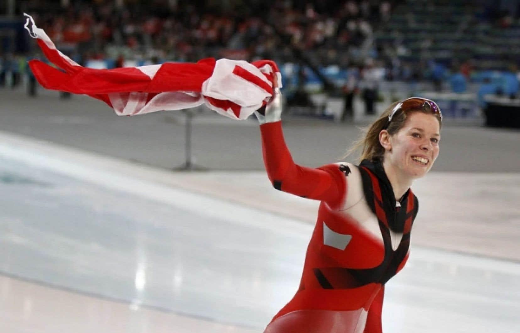 Christine Nesbitt a décroché hier sa première médaille olympique individuelle.