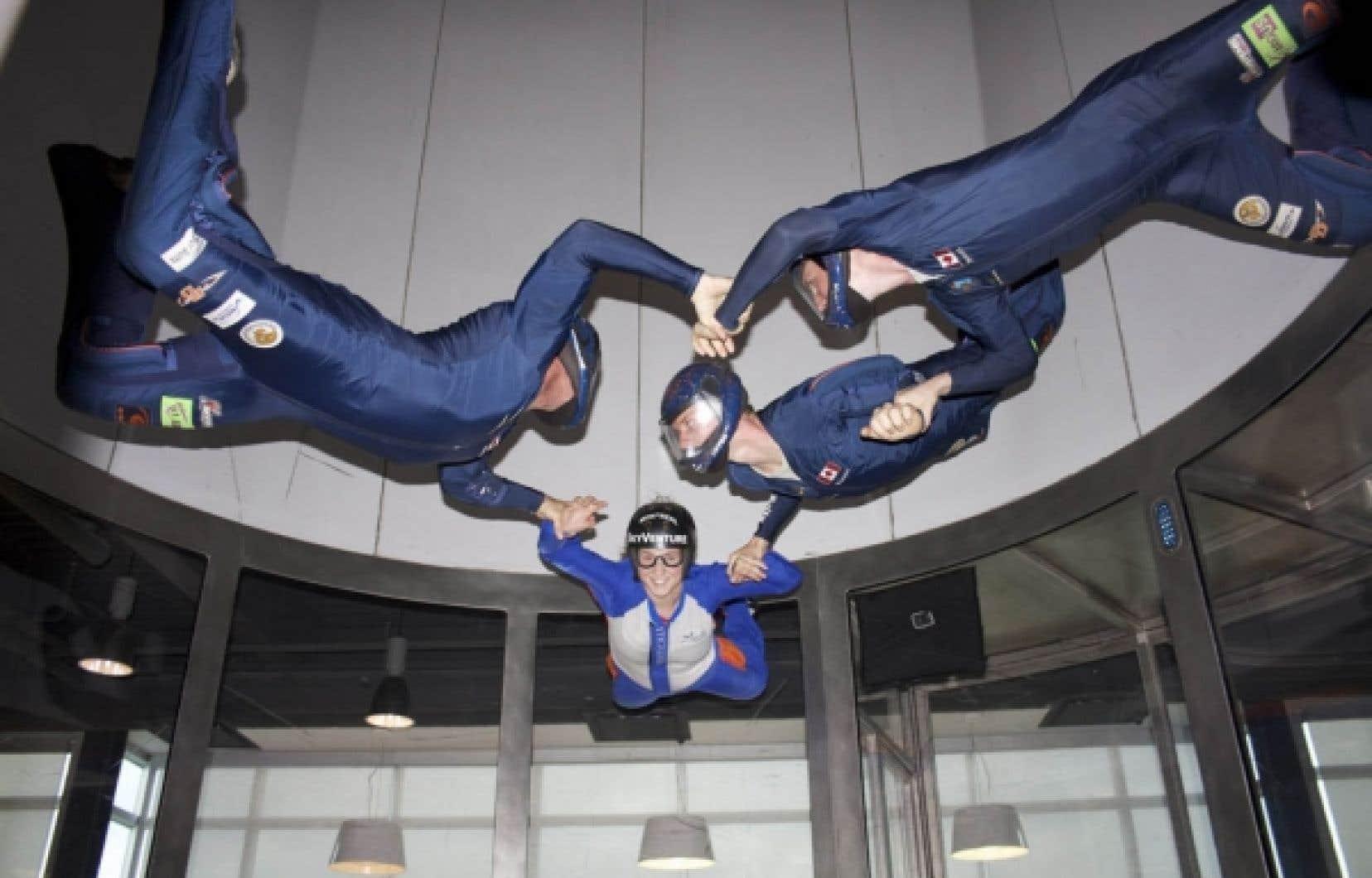 SkyVenture remarque un grand intérêt de la part des entreprises pour son simulateur de chute libre.