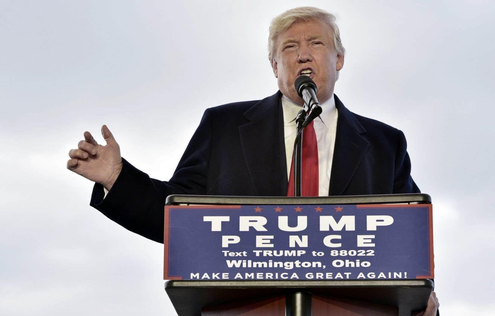 Le candidat républicain, Donald Trump
