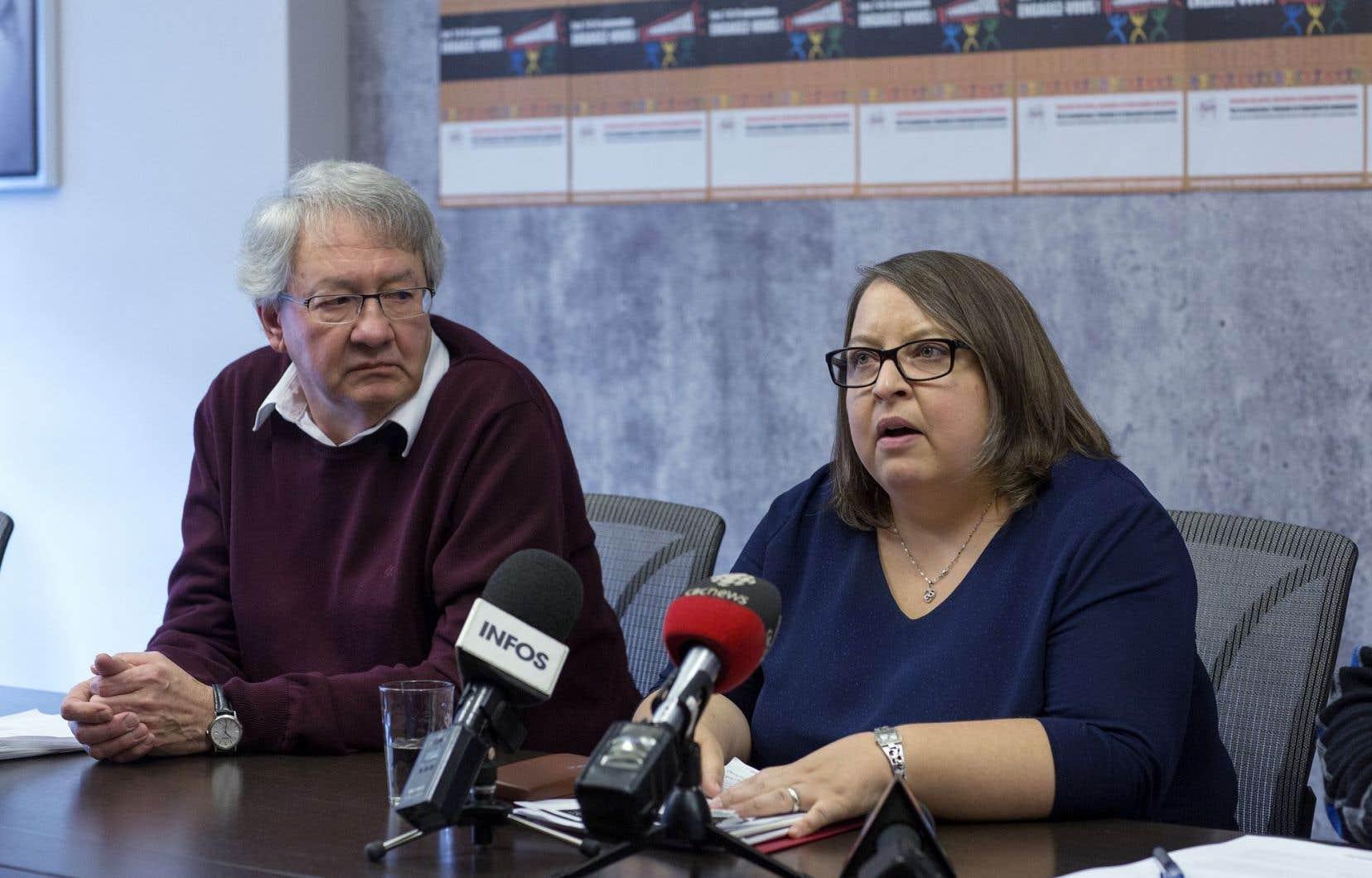 François Saillant et Caroline Toupin, de la campagne Engagez-vous pour le communautaire
