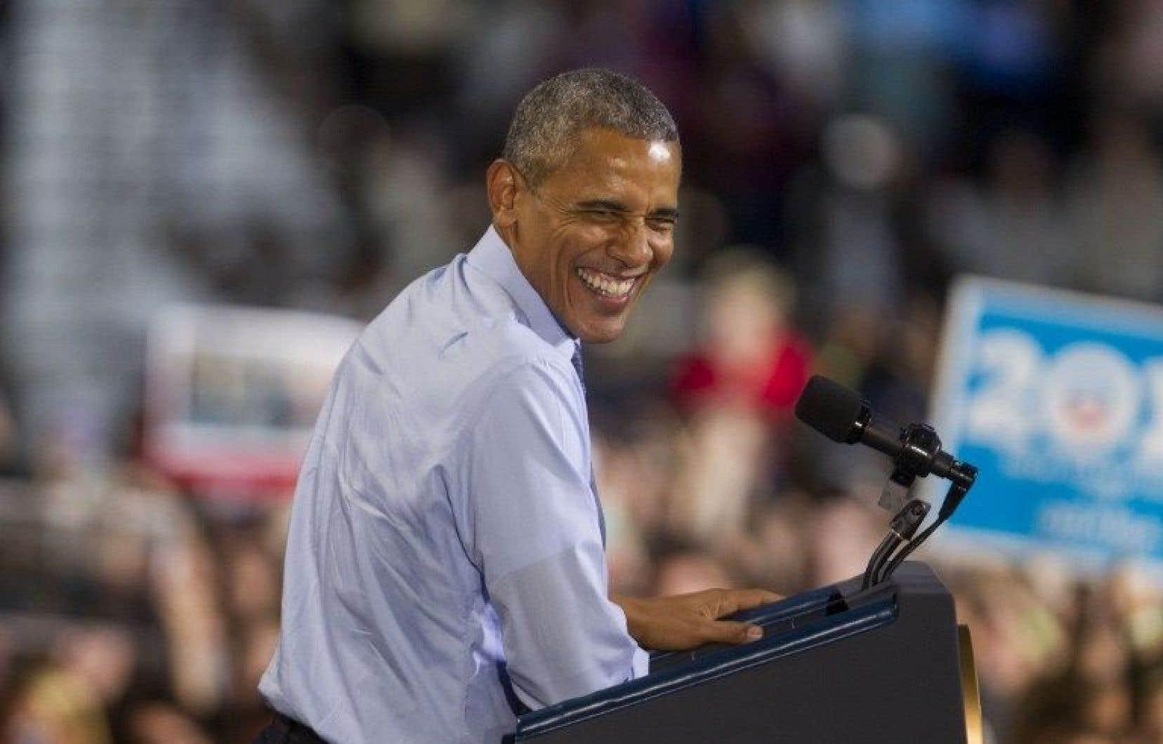 Hillary Clinton a pu profiter de l'appui du président Barack Obama, dont la popularité reste forte.