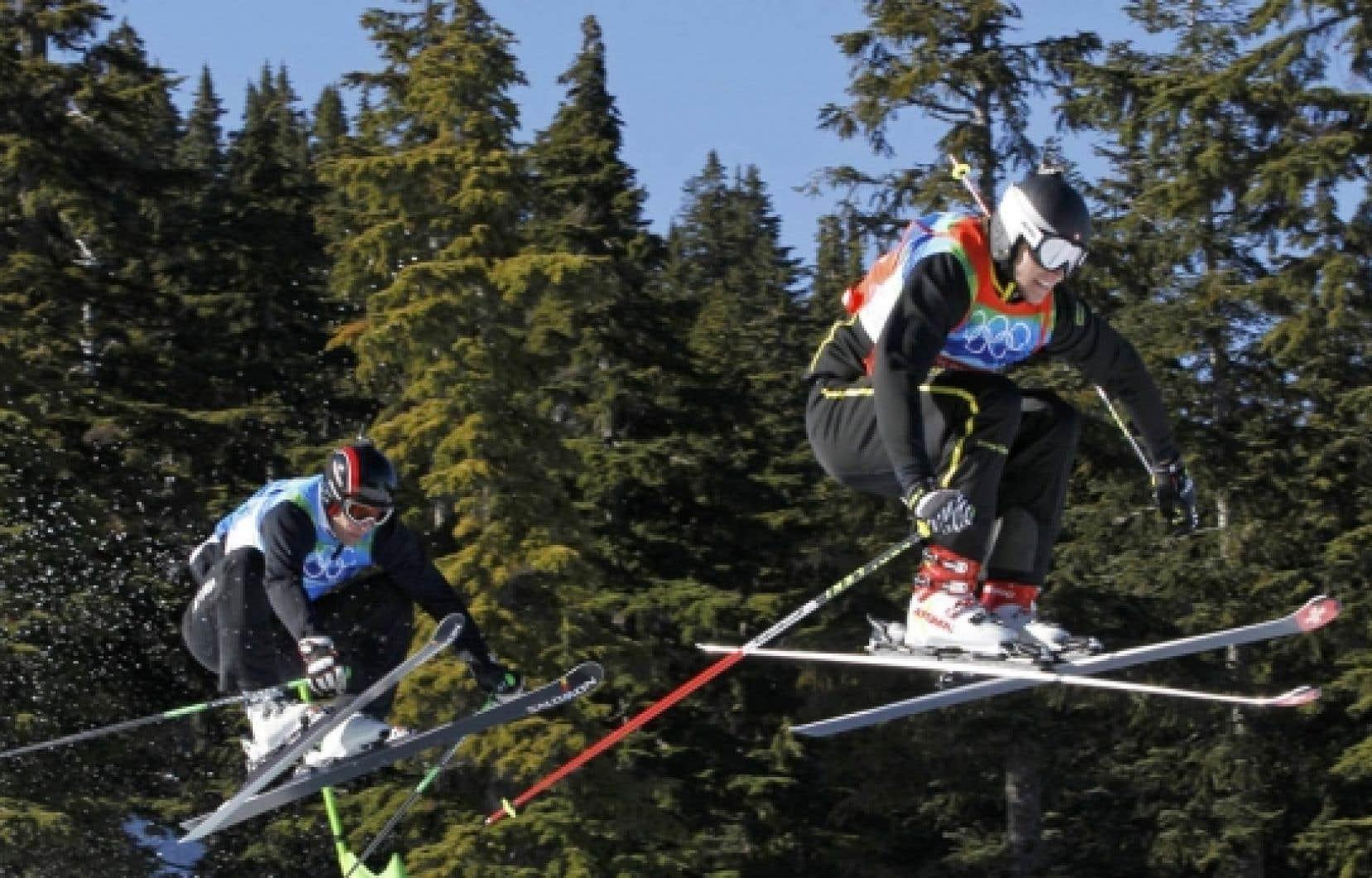 Le Suisse Michael Schmid devant l'Autrichien Andreas Matt