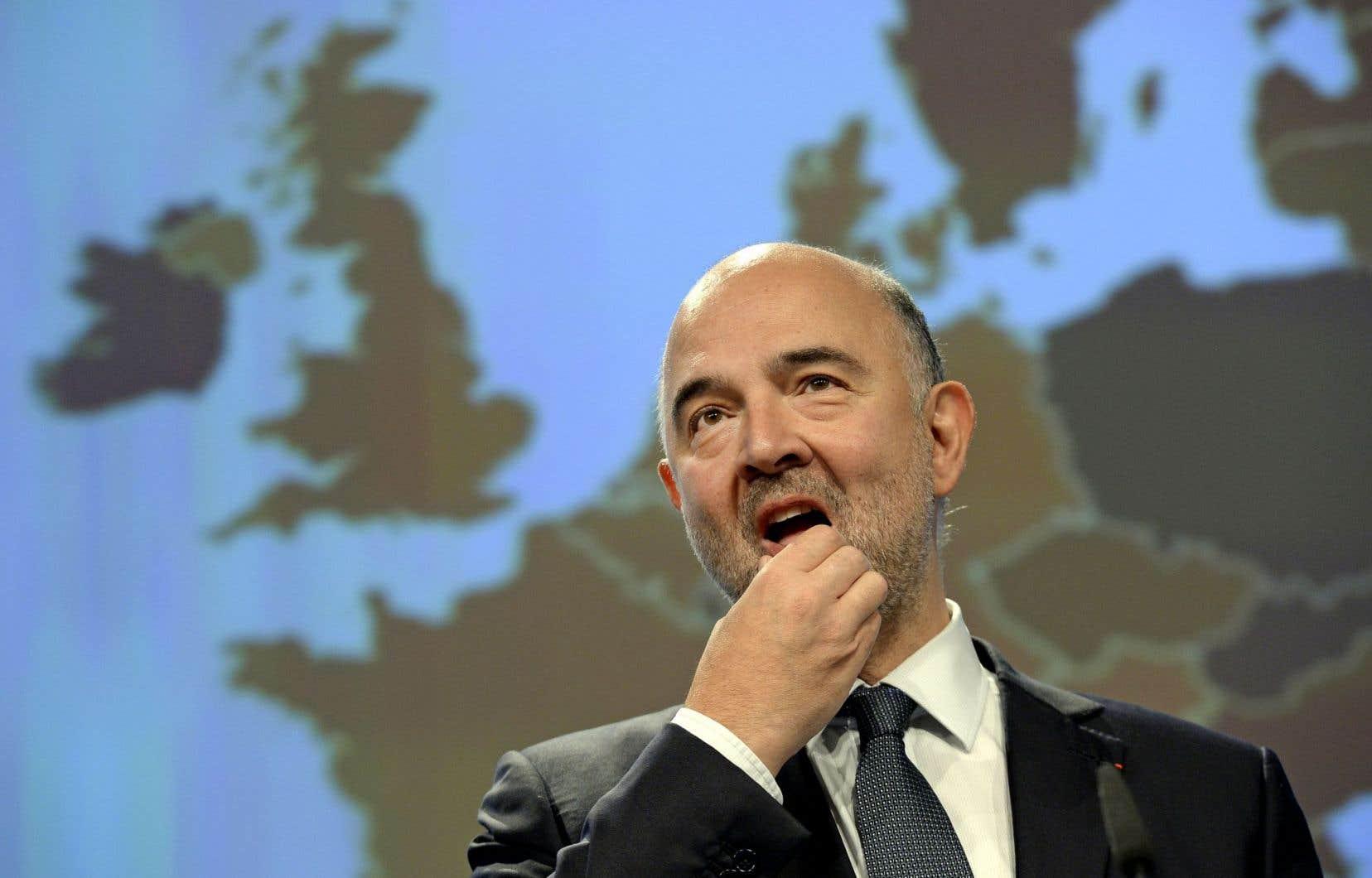 Le commissaire européen aux Affaires économiques, Pierre Moscovici