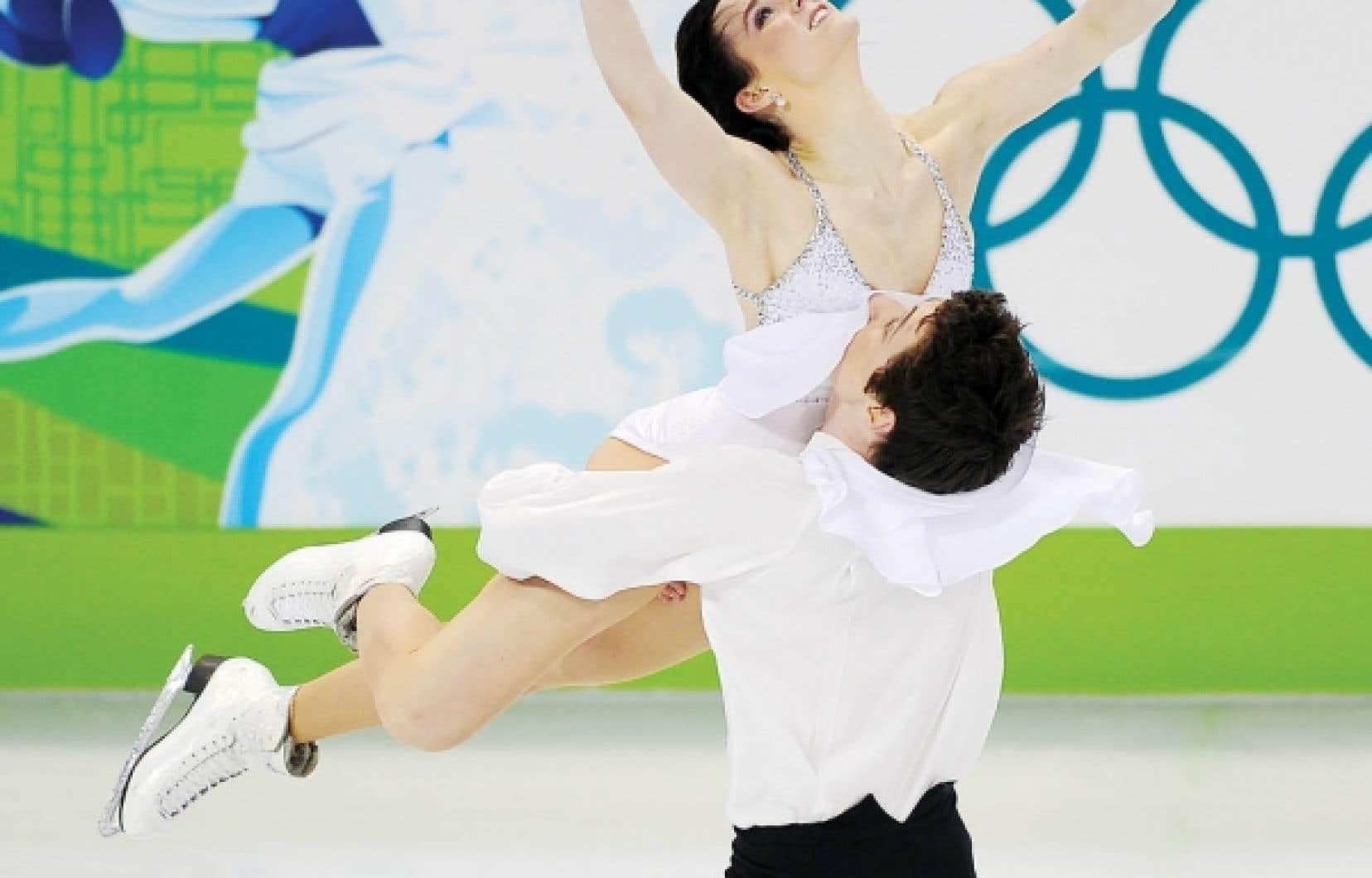 Les Ontariens Tessa Virtue et Scott Moir ont raflé la médaille d'or hier en danse lors des compétitions de patinage artistique.