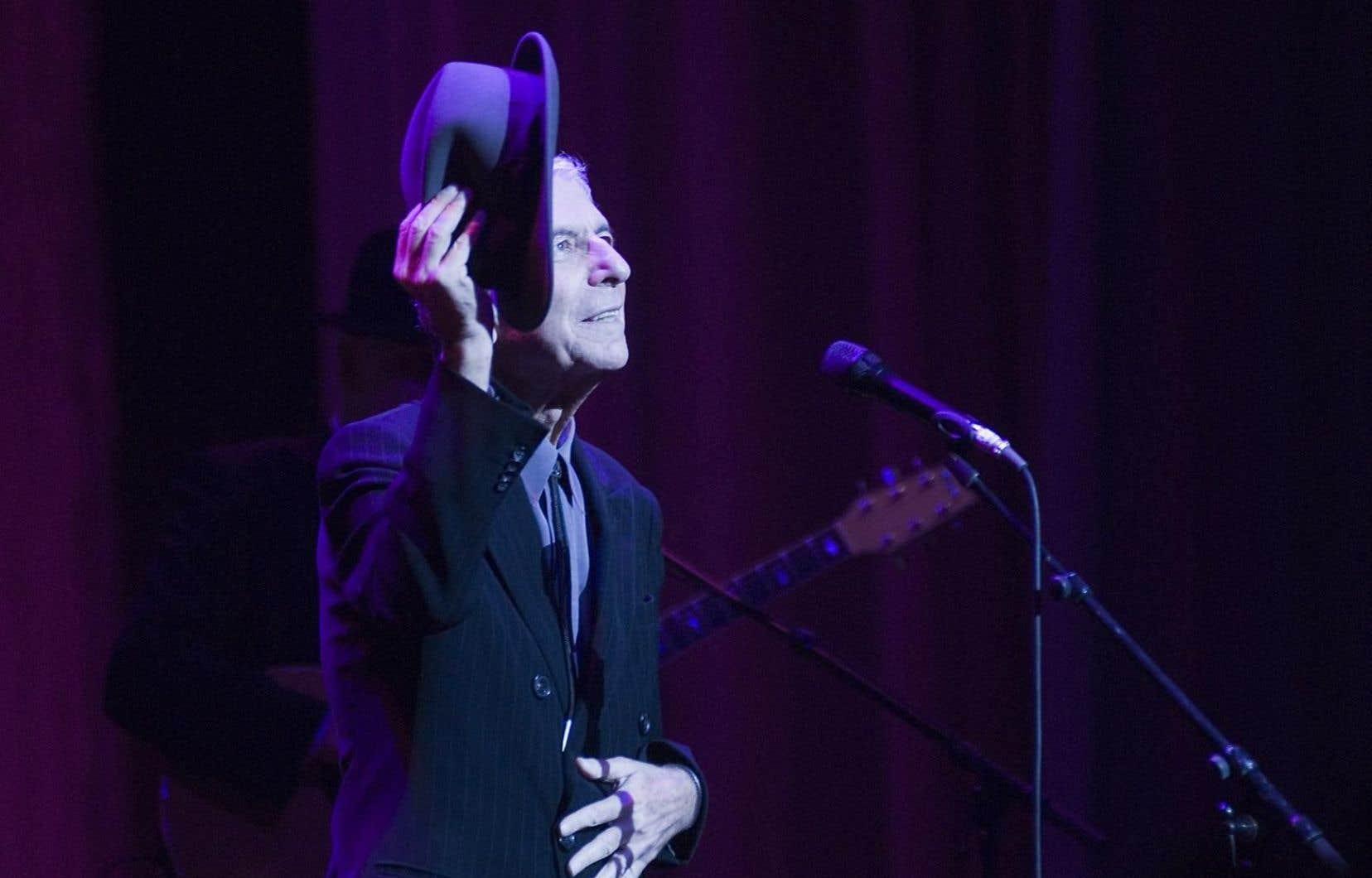 Leonard Cohen à la salle Wilfrid-Pelletier en 2008