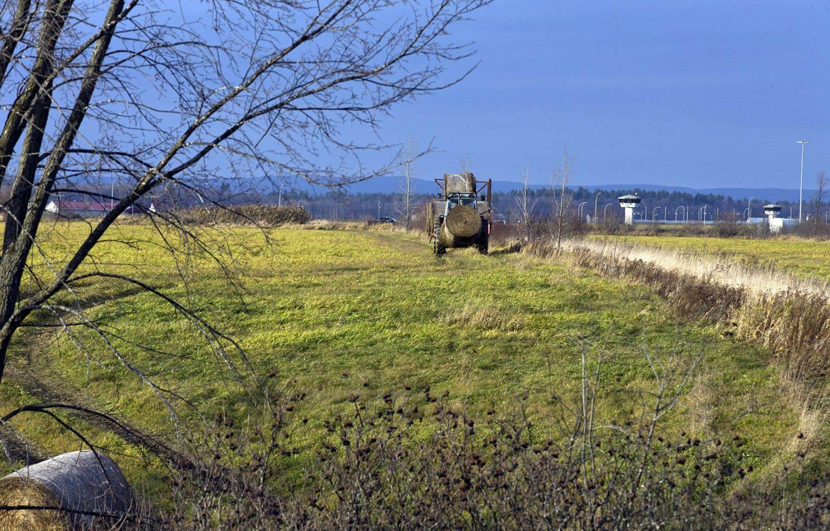 Les terres agricoles représentent deux pour cent du territoire québécois.