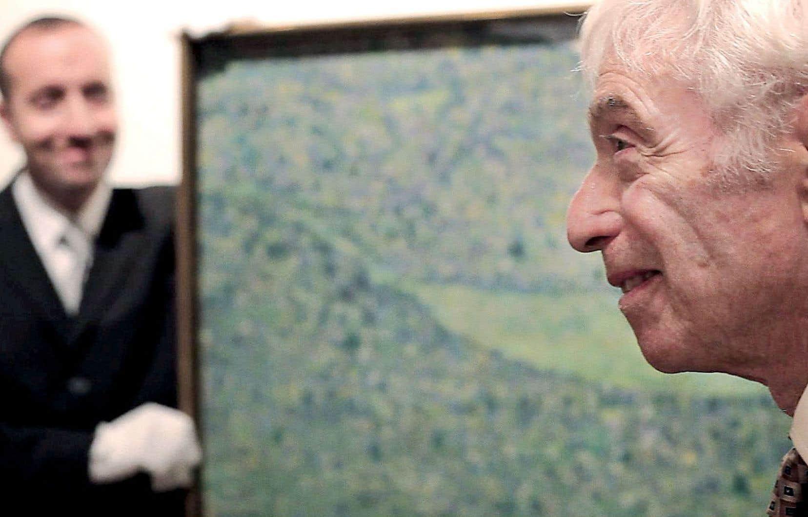 Georges Jorisch redécouvrant un des Klimt qui ont bercé son enfance à Purkersdorf, en Autriche
