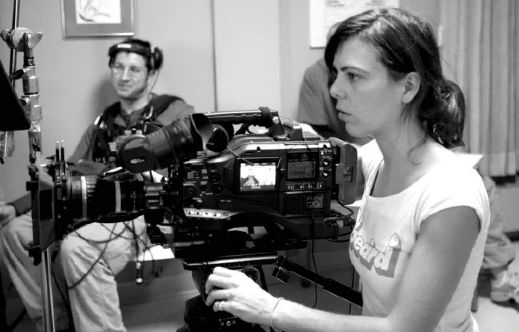 Sophie Deraspe, la caméra en main.