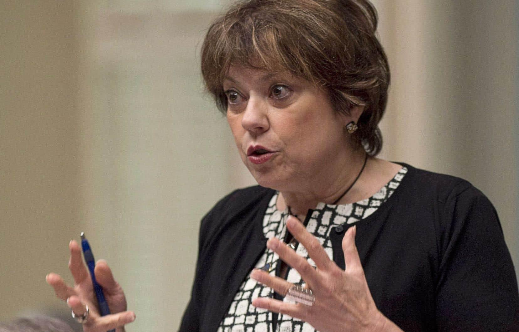 La ministre responsable de l'Enseignement supérieur, Hélène David