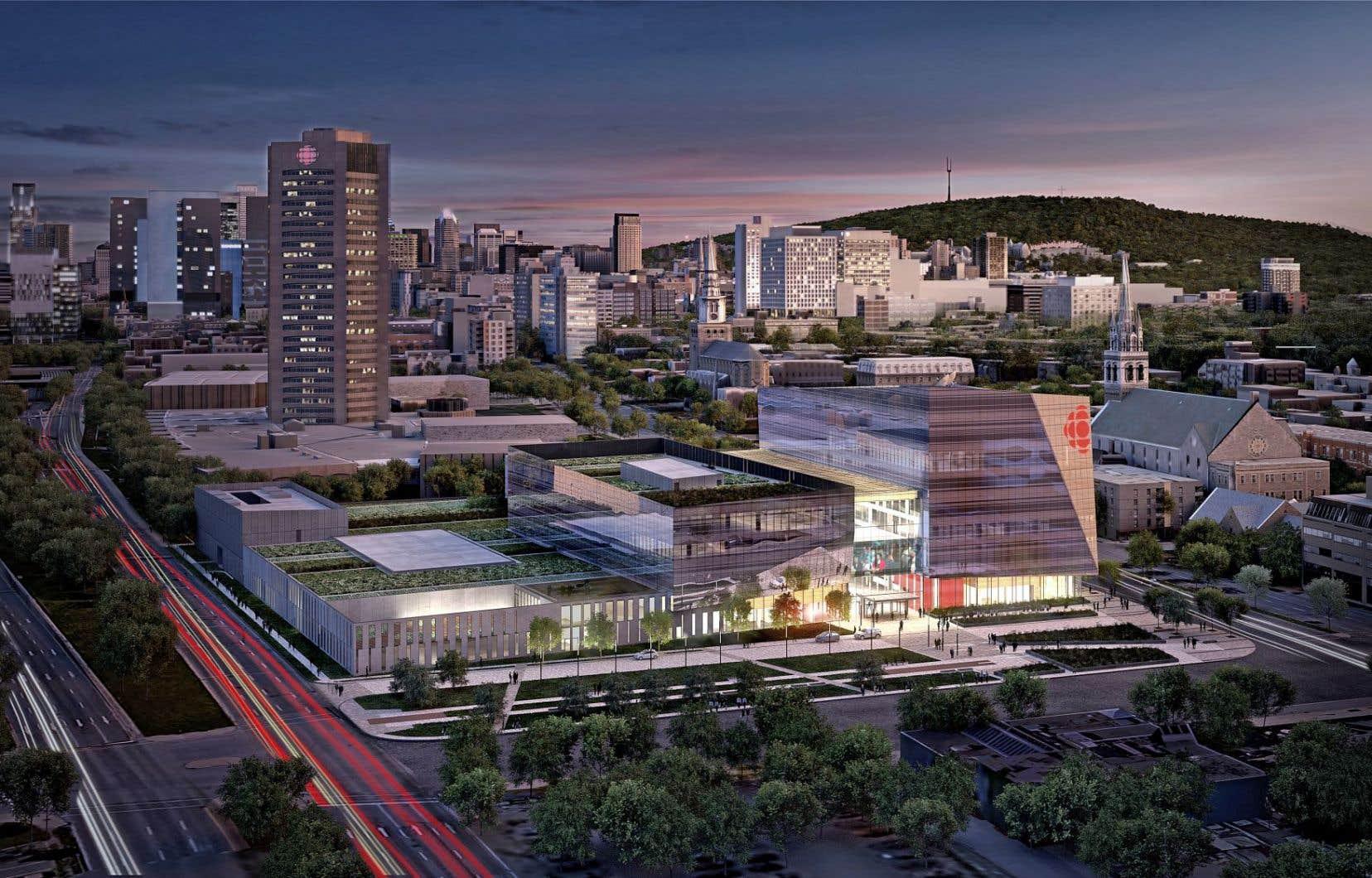La construction de l'immeuble devrait se terminer à la fin de 2019 et les 3000 employés du diffuseur pourront intégrer leurs nouveaux bureaux en janvier 2020.