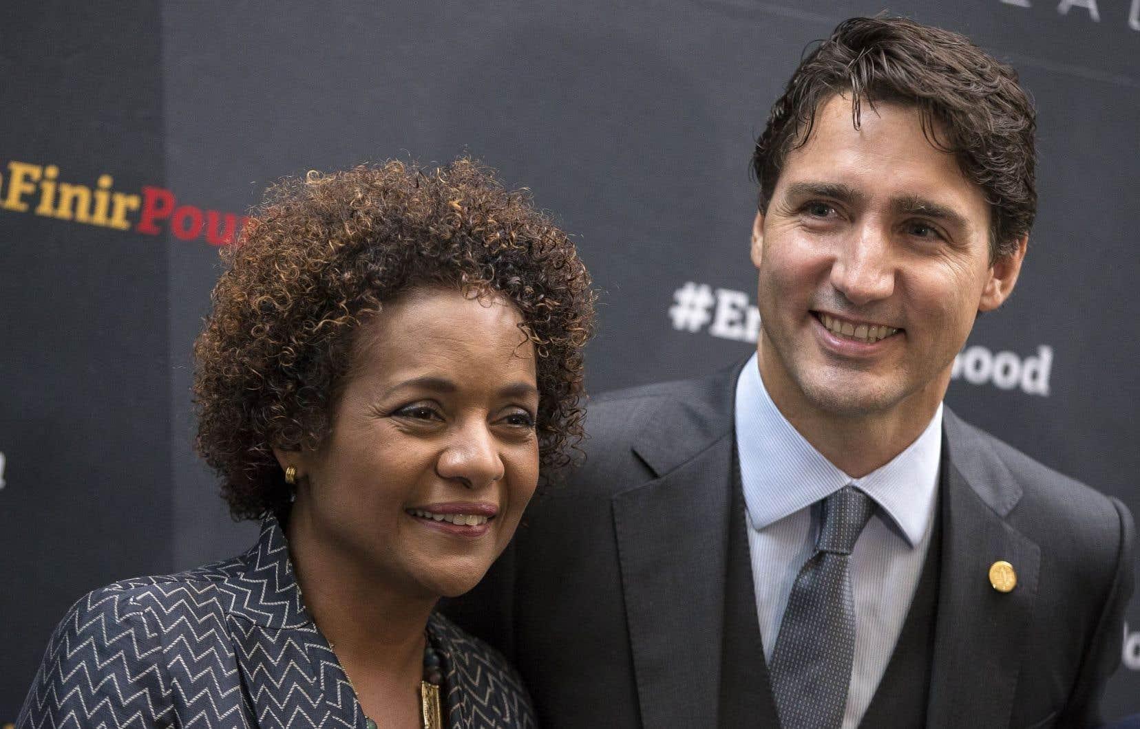 Le premier ministre Justin Trudeau, ici aux côtés de la secrétaire générale de la Francophonie, Michaëlle Jean, a déposé officiellement la candidature de l'Ontario au poste d'observateur de l'Organisation internationale de la Francophonie (OIF).
