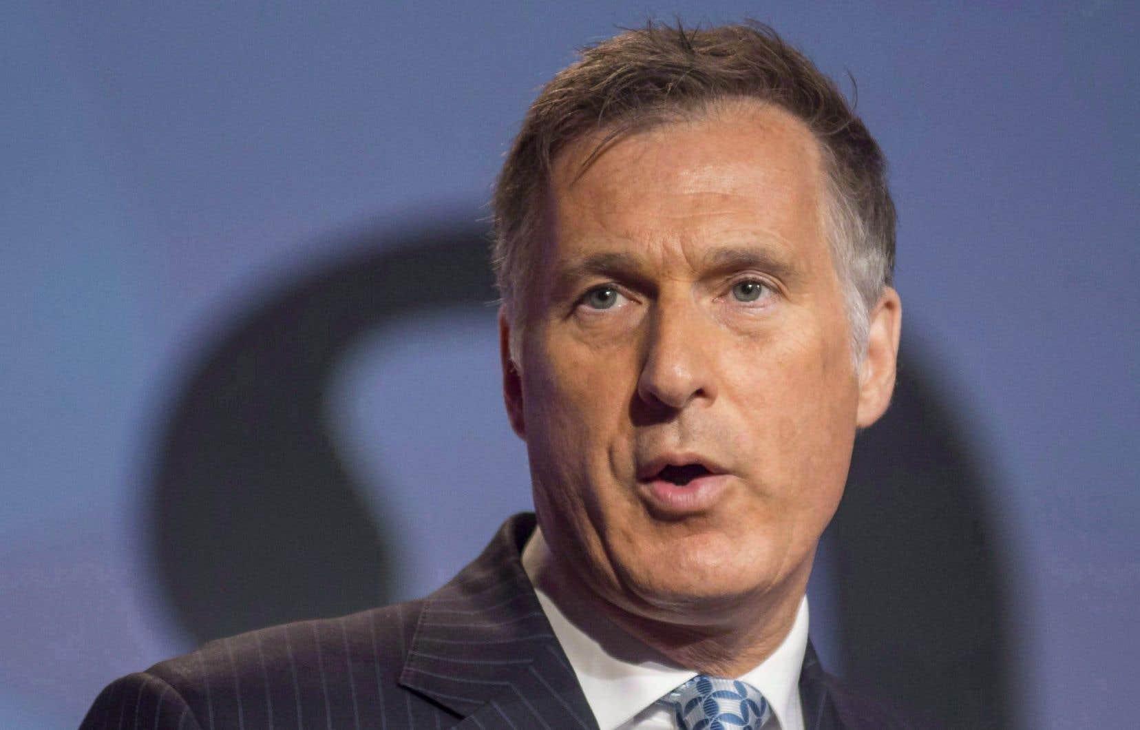 Le candidat à la chefferie du Parti conservateur Maxime Bernier