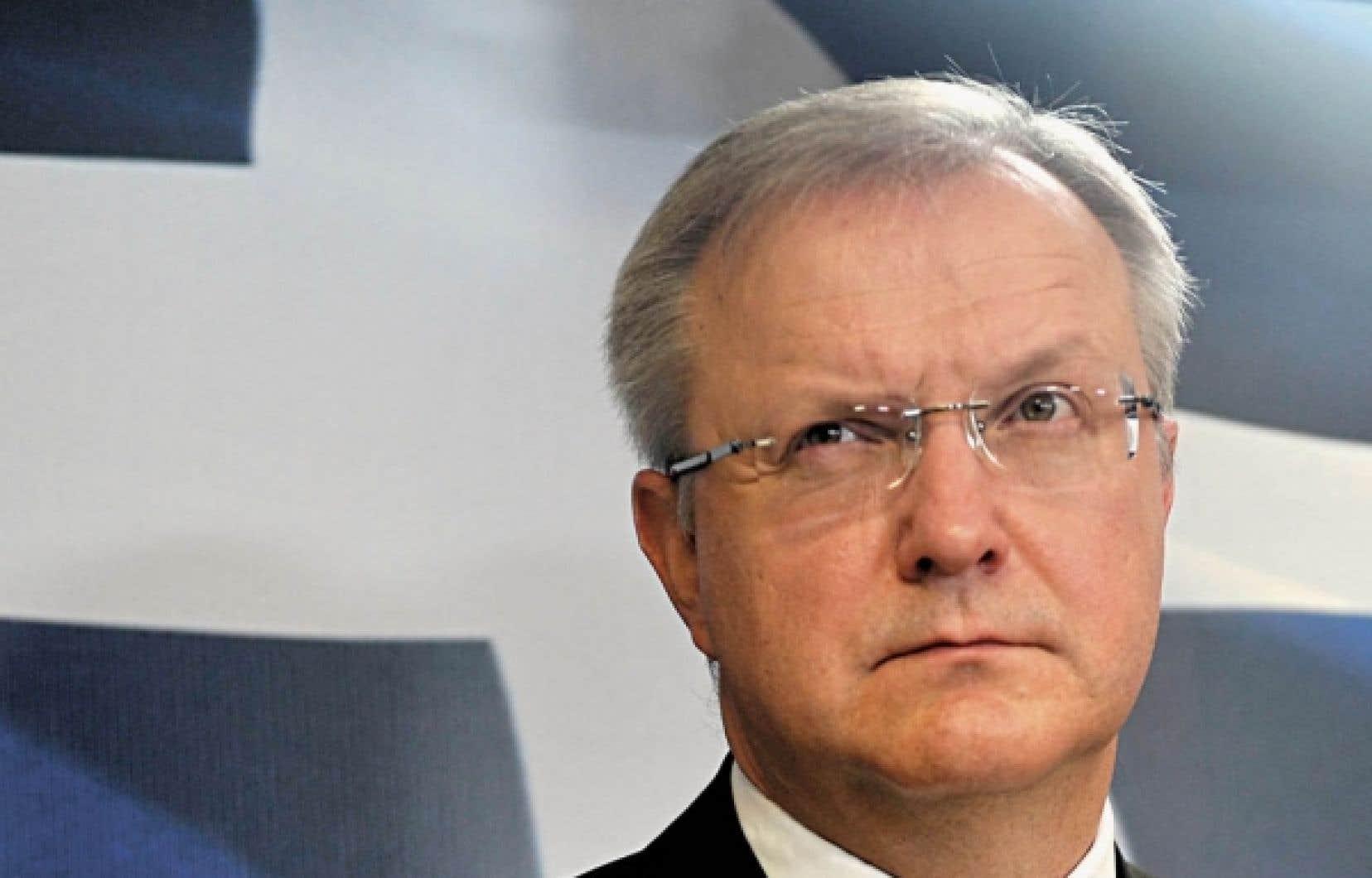 Le commissaire européen aux Affaires écono-miques et monétaires, Olli Rehn