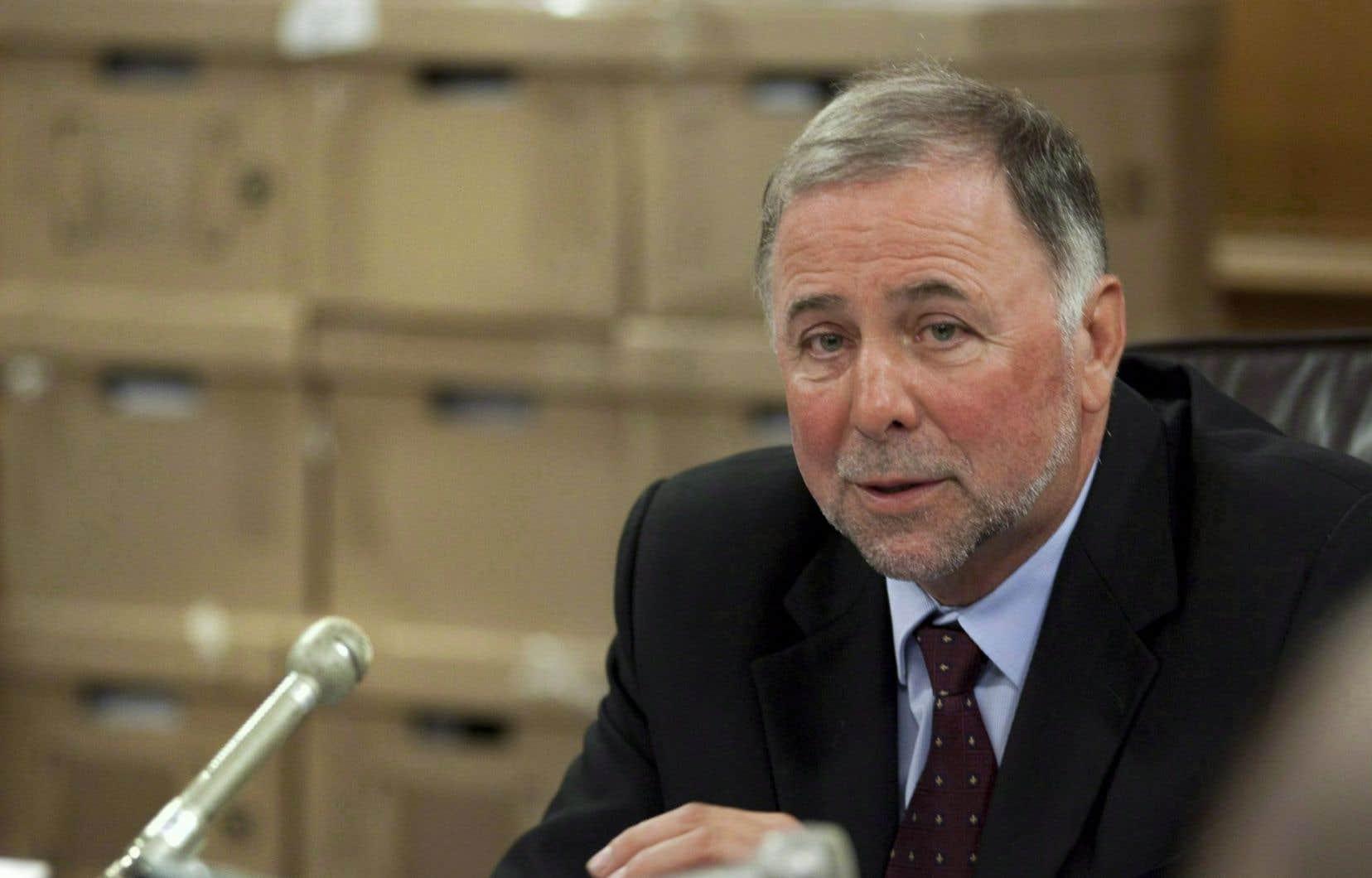 Le ministre de l'Agriculture, Pierre Paradis