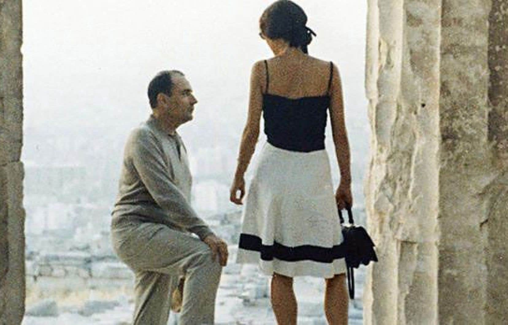François Mitterrand et sa maîtresse Anne Pingeot