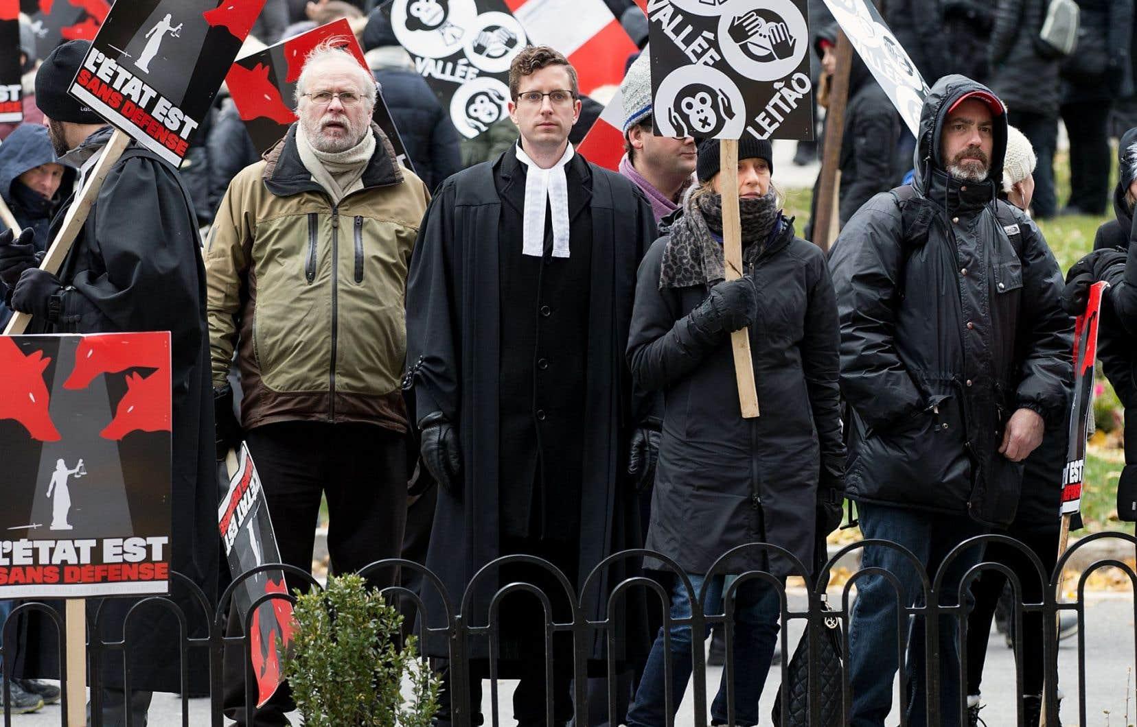 Le 28 novembre dernier, les juristes en grève menaient une manifestation.