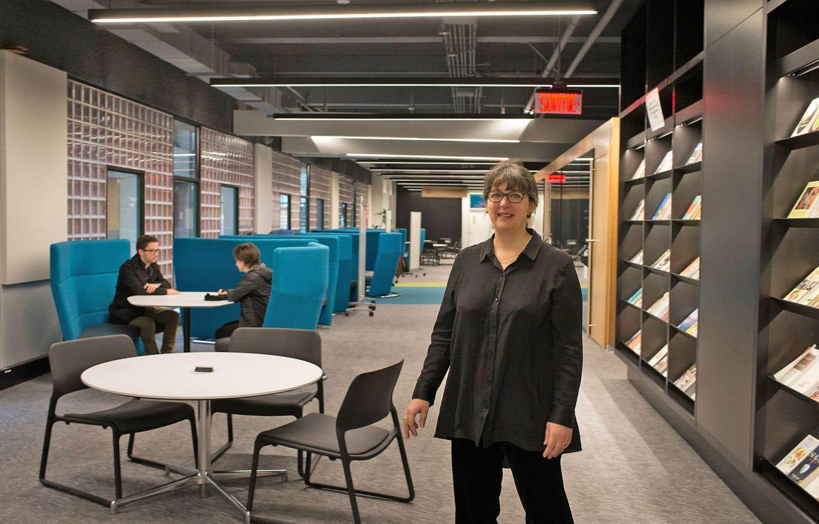 La bibliothécaire en chef de Concordia, Guylaine Beaudry, est persuadée que la rénovation de la bibliothèque de l'université saura plaire aux étudiants et peut-être, qui sait, leur donner le coup de pouce nécessaire pour réussir.