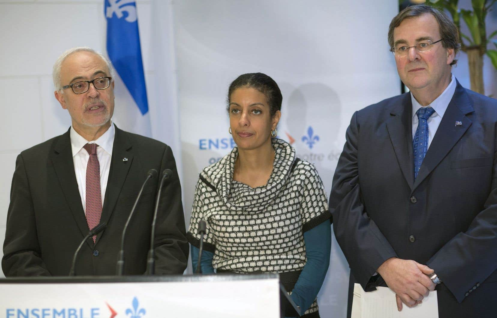 Les ministres Carlos Leitão, Dominique Anglade et François Blais ont louangé le bilan économique de leur gouvernement.