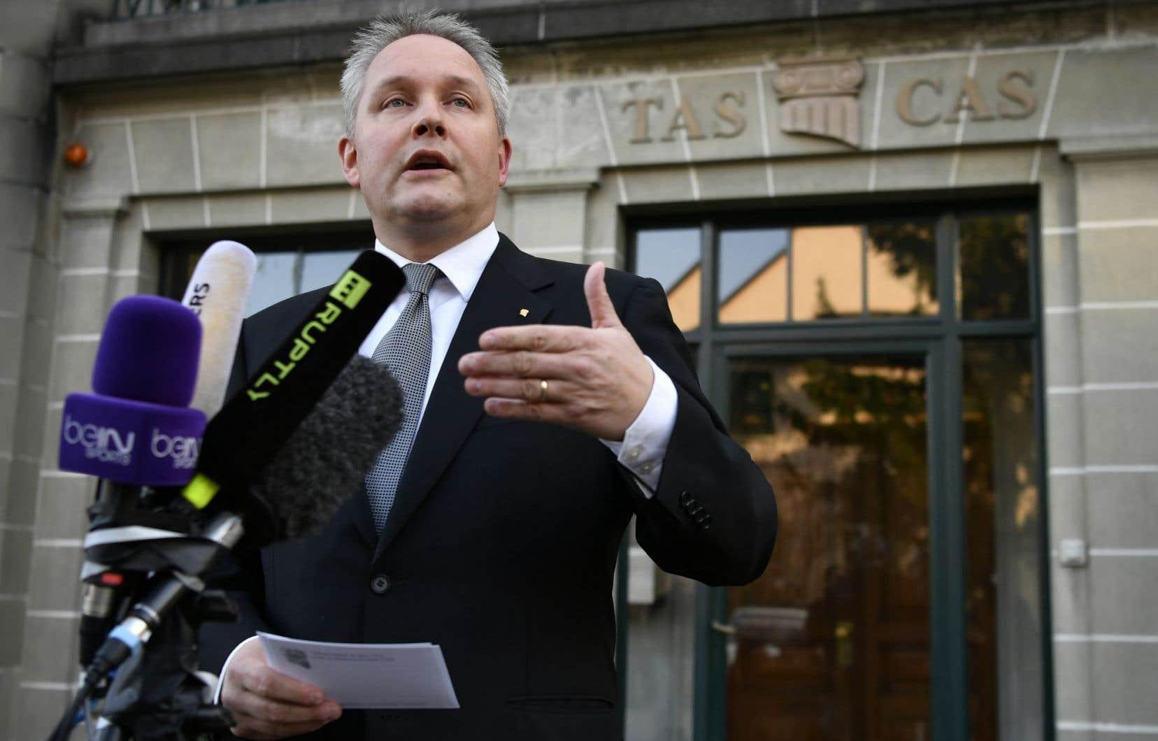Mathieu Reeb, secrétaire général du TAS