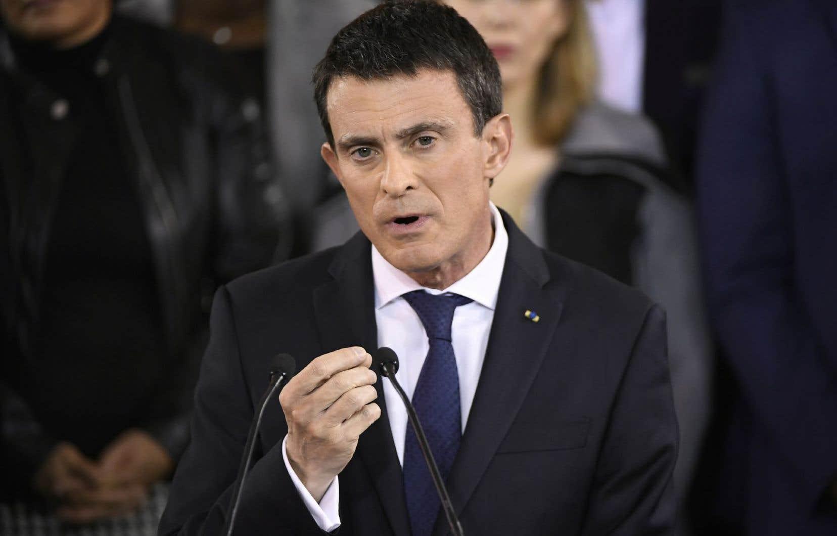 Manuel Valls a annoncé sa candidature à la primaire de la gauche, lundi.