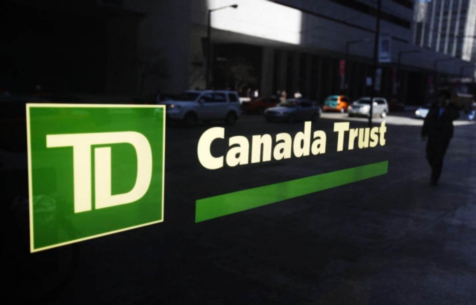 Le bénéfice net du Groupe financier Banque TD a doublé, permettant à l'institution d'engranger 1,3 milliard de dollars.
