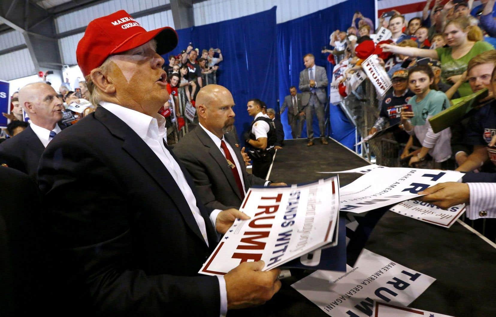Le président désigné Donald Trump lors d'un passage dans l'État du Delaware en avril2016