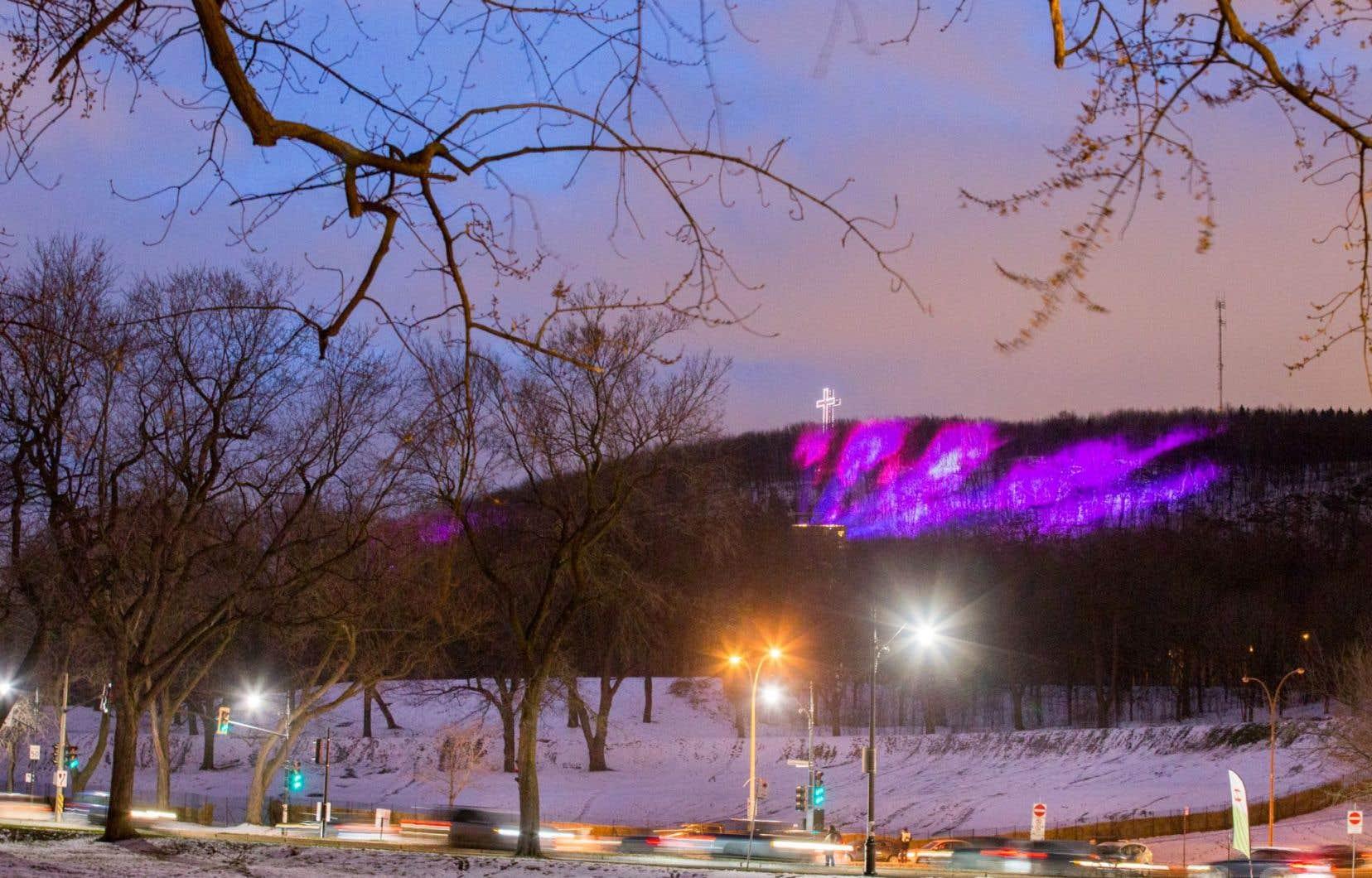 La projection en continu d'«Aurores montréales» n'est prévue que jusqu'au 2janvier.