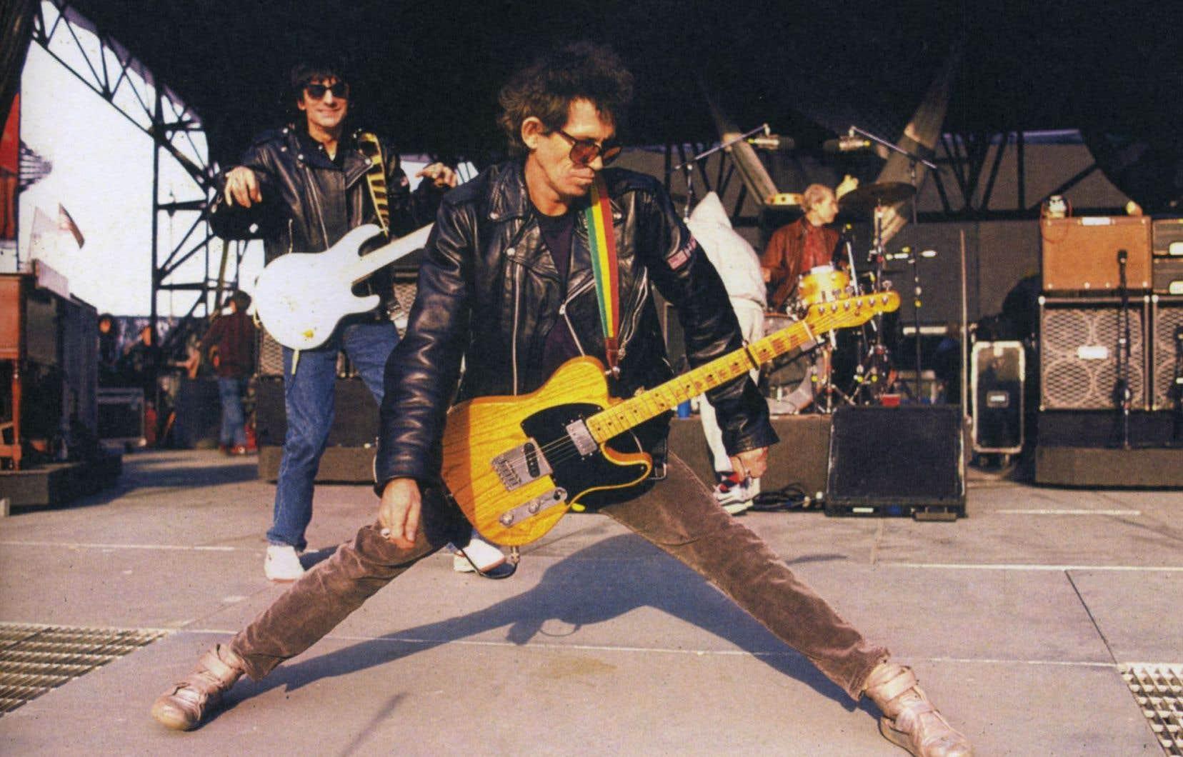 Le guitariste des Stones, Keith Richards, à la fin des années 1980