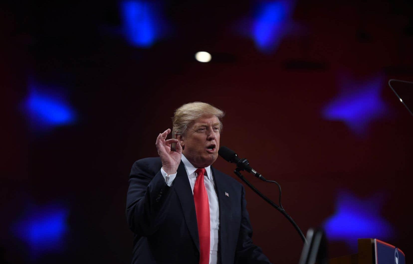 Le président désigné des États-Unis, Donald Trump