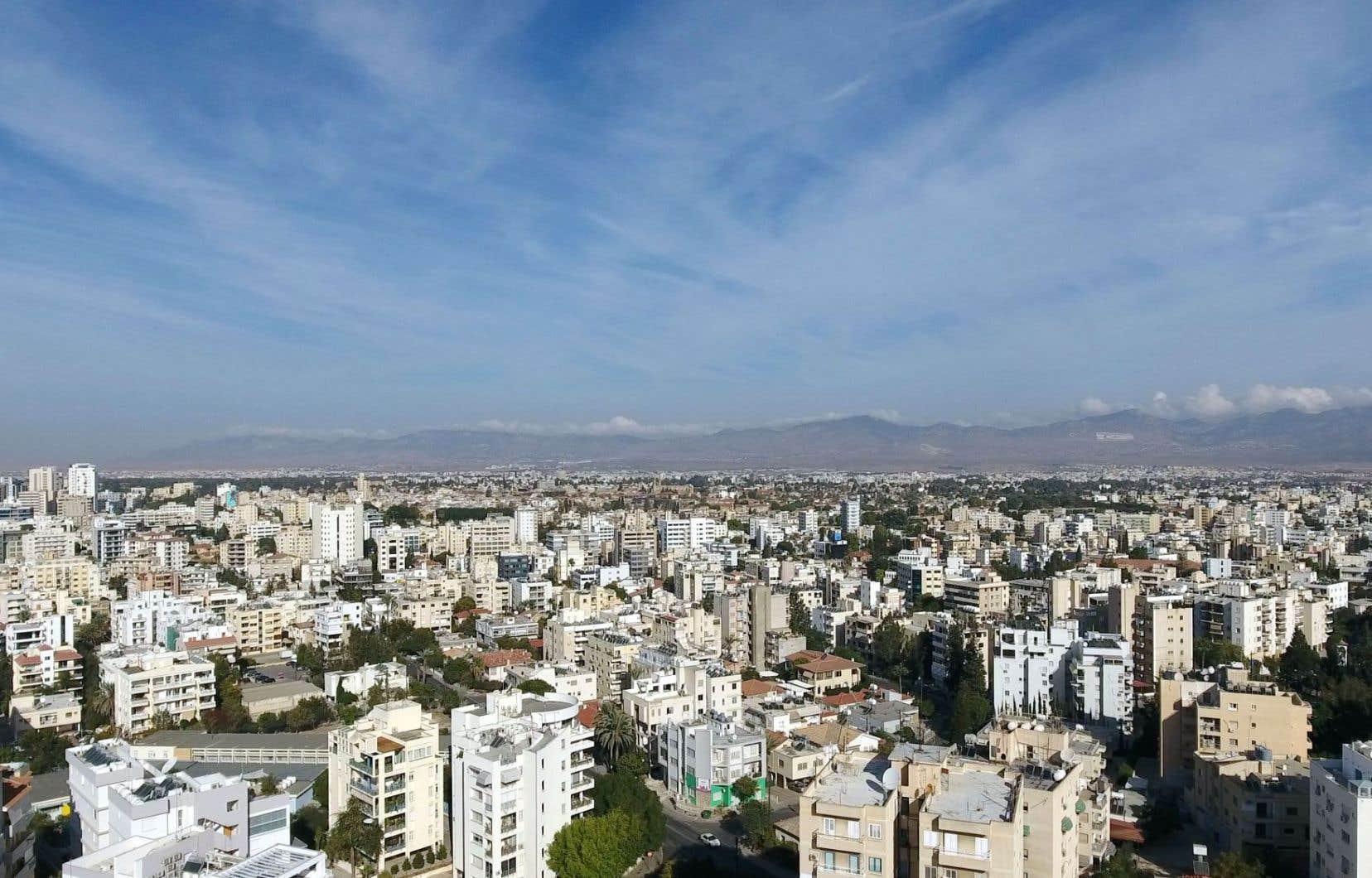 Vue aérienne de Nicosie, capitale de l'île de Chypre