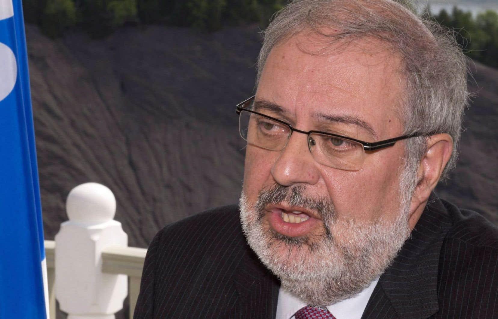 Le ministre responsable du Plan Nord, Pierre Arcand