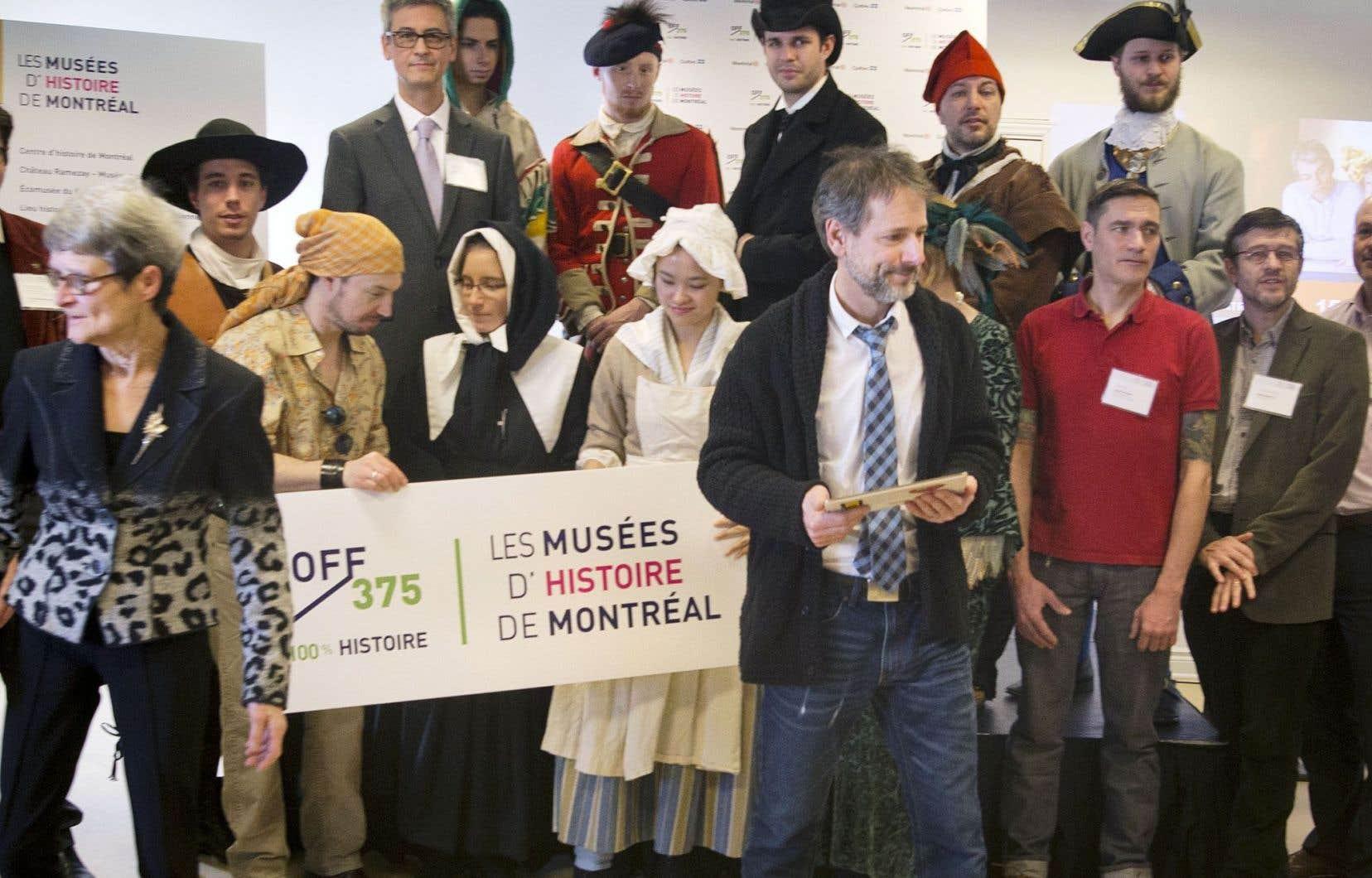 Le regroupement des Musées d'histoire a dévoilé mardi la signature de la campagne OFF 375: 100% histoire et sa programmation d'activités en présence du porte-parole Marc-André Coallier.