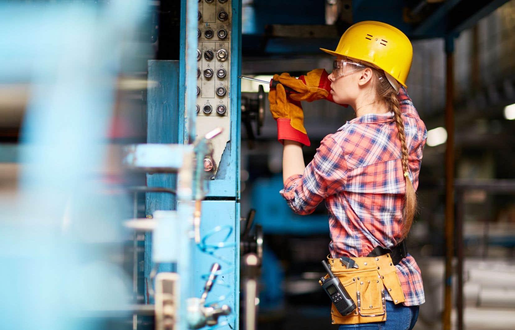 À peine 1,5% des travailleurs actifs sur les chantiers de construction étaient des femmes en 2015.