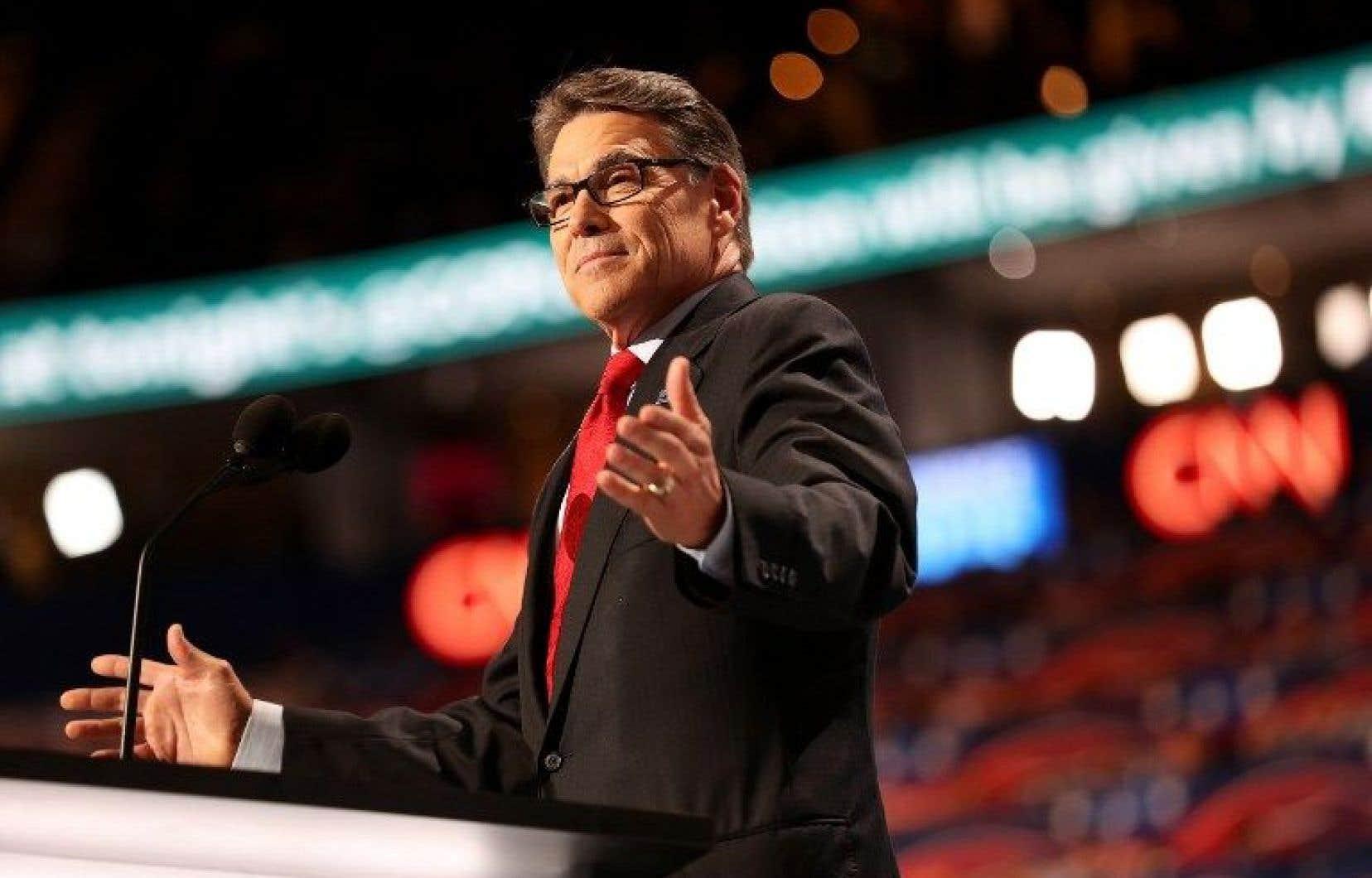 Rick Perry, 66ans, a gouverné un État riche en pétrole.