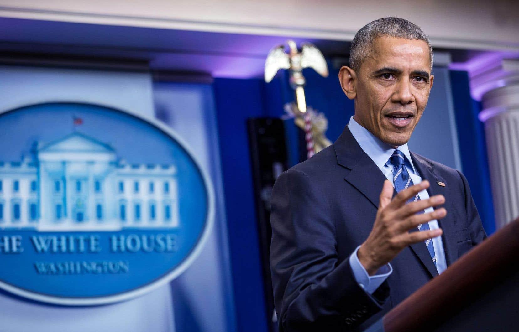 Barack Obama a été interrogé par les journalistes vendredi lors d'une longue conférence de presse à la Maison-Blanche.