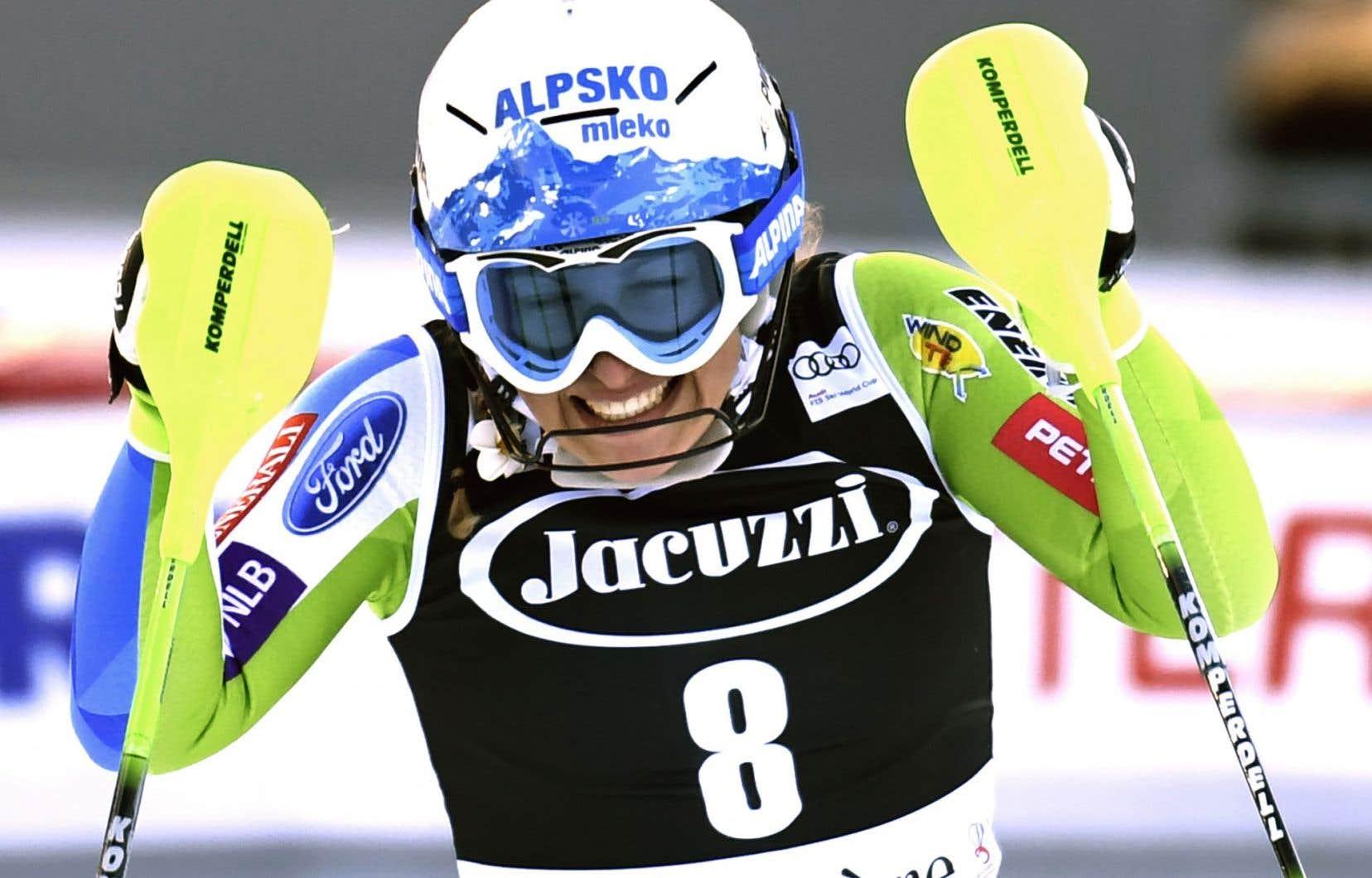 Avant cette saison, Ilka Stuhec ne s'était jamais classée mieux que quatrième.