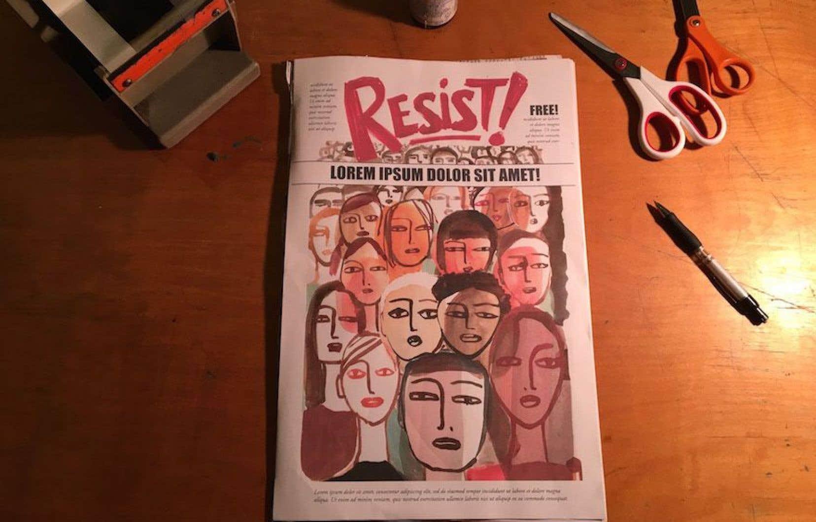 L'ébauche du fanzine «Resist!»