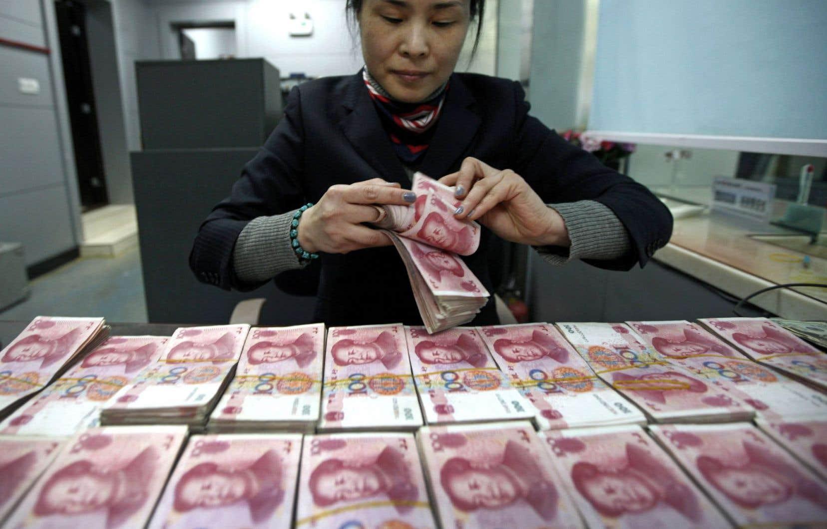 La monnaie chinoise souffre des incertitudes sur la santé des États-Unis, entre autres.