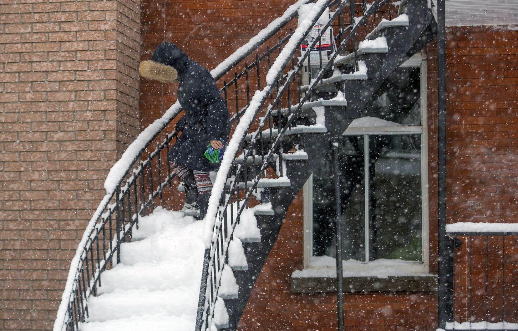 Plusieurs centimètres de neige sont tombés sur le Québec dans les derniers jours.